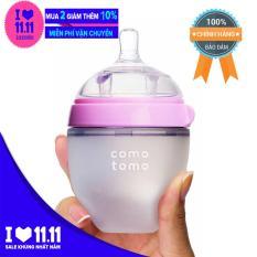 Bình sữa COMOTOMO 150ml Hồng (Hãng phân phối chính thức)