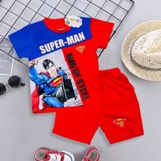 Bộ quần áo siêu nhân – Bộ đồ siêu nhân tay ngắn bé trai TN14