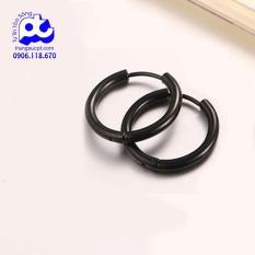 Bông tai nam khoen tròn vành Oppa Hàn Quốc inox cao cấp không đen Rẻ ơi rẻ