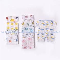 Body đùi cotton giấy cho bé trai, bé gái sơ sinh 3-10kg, hàng đẹp – BD10