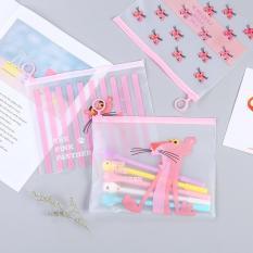 Túi đựng bút trong suốt siêu hình xương rồng, unicorn, báo hồng siêu cute tiện lợi