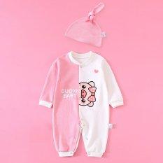 Body liền thân cho bé trai bé gái mẫu quần áo trẻ em, đồ sơ sinh dài tay thu đông kèm mũ chất cotton mền mịn từ 3-12kg.