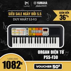 【Giá chỉ 1.082K】Đàn organ điện tử Yamaha cho trẻ em PSS-F30 – Bàn phím mini – 120 Tiếng nhạc – 114 điệu nhạc đệm – Giắc cắm loa và tai nghe tích hợp – Bảo hành chính hãng 12 tháng