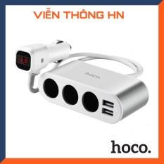 Bộ chia tẩu sạc oto Hoco z13 3 tẩu sạc 2 cổng sạc usb – sạc pin trên xe hơi ô tô cao cấp bảo hành 1 năm