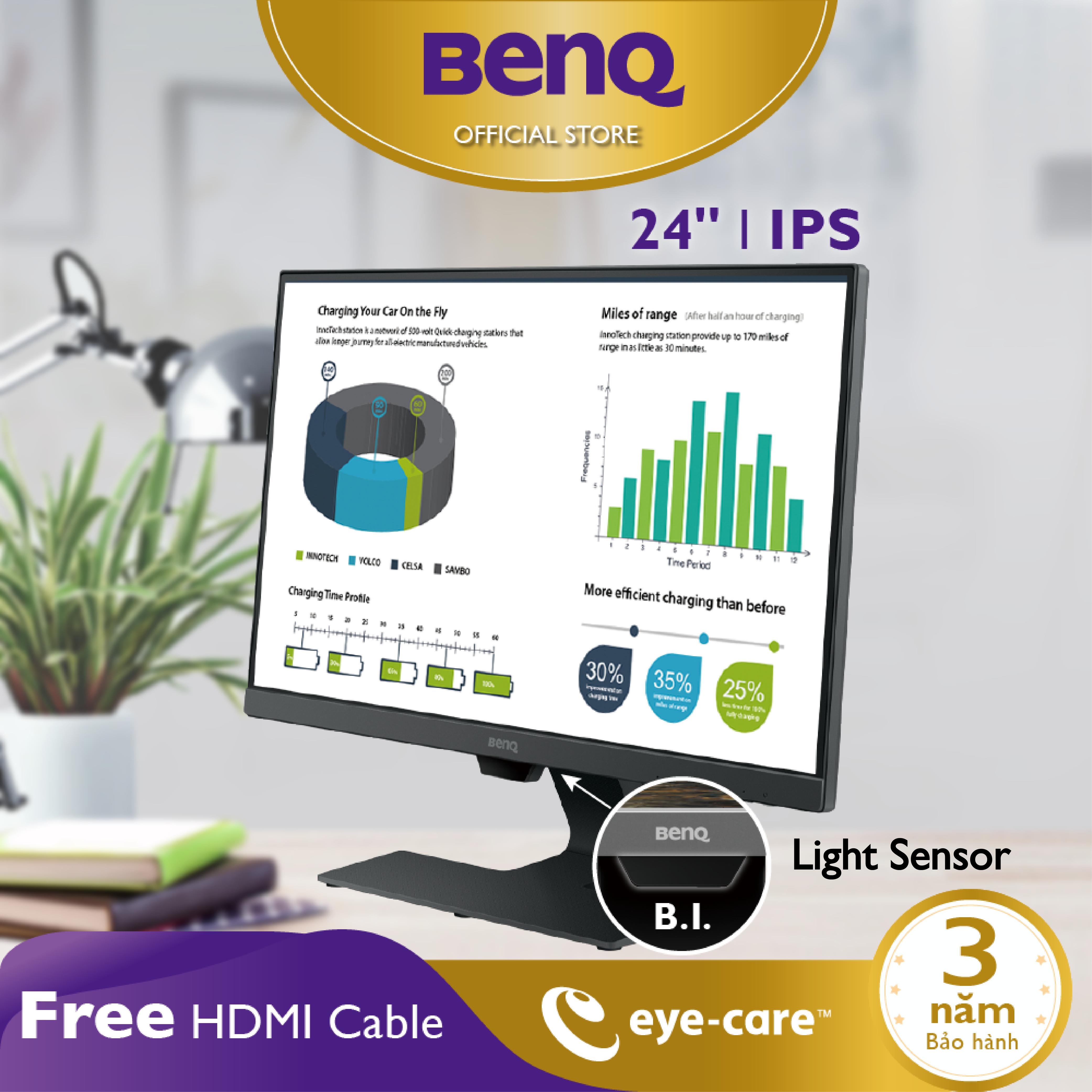 Màn hình máy tính BenQ GW2480 23.8 inch IPS 1080p Bảo vệ mắt, phù hợp Làm việc ở nhà và Giải trí cá nhân