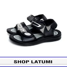 Giày Sandal trẻ em thời trang cao cấp Latumi TA2551 (Đen Phối Xám)