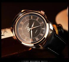 Đồng hồ nam Yazole 336 dây da thời trang cực chất (Vỏ vàng)