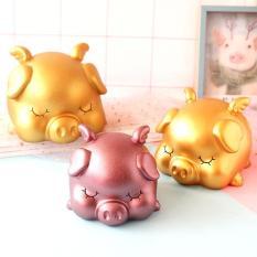 Heo thần tài, Heo Tiết Kiệm Mạ Vàng Mẫu Mới Nhất 2019 – Lợn Đất Phong Thủy Mạ Vàng Tài Lộc