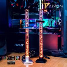 Giá đỡ card màn hình VGA LED RGB – Sync đồng bộ Main/Hub, thép kết hợp thuỷ tinh cứng, hiệu ứng RGB 16.7 triệu màu – Đen