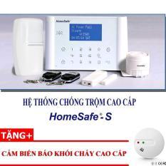 Hệ thống chống trộm cao cấp không dây Mỹ Homesafe S – Tặng cảm biến báo khói cháy không dây