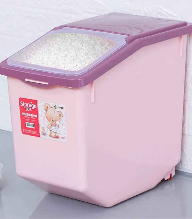 Thùng đựng gạo 15kg nhựa chống vỡ
