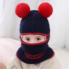 Bộ mũ len trùm đầu cho bé trai
