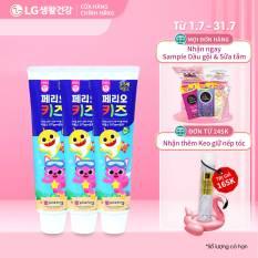 Combo 3 Kem đánh răng trẻ em Perioe Pinkfong Hàn Quốc step 2 ( 3-5 tuổi) – 3x75gr