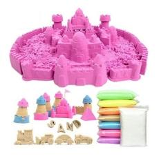 Bộ đồ chơi Cát động lực vi sinh tạo hình LÂU ĐÀI gồm: 0,8kg Cát + Bể hơi + Đủ khuôn KamiHome vận chuyển