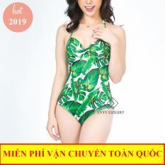 Bộ đồ bơi liền thân có cup đệm ngực, dây buộc cổ kiểu monikini, bikini đẹp