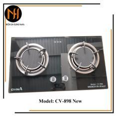 Bếp gas âm đôi đầu đốt hồng ngoại cao cấp Civina CV898, Thương hiệu Italia, mẫu mới, bảo hành 24 tháng