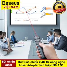 [VOUCHER HOT 50K] Bút trình chiếu Laser điều khiển từ xa cho máy chiếu Baseus Orange Dot Wireless Presenter 2.4GHz với USB Bluetooth – Sản phẩm đạt giải thưởng về thiết kế năm 2020