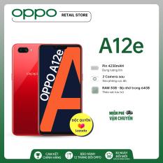 MIỄN PHÍ VẬN CHUYỂN Điện thoại OPPO A12e (3GB/64GB) – Pin trâu hơn 4230Mah Bộ nhớ lớn hơn 64GB Camera sau kép xóa phông Camera trước làm đẹp AI – Hàng chính hãng Bảo hành 12 tháng