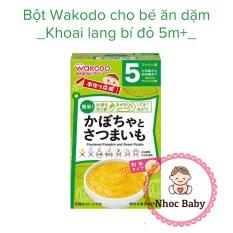 Bột ăn dặm Wakodo cho bé 5m+ (Nhật Bản) – Khoai Lang & Bí đỏ
