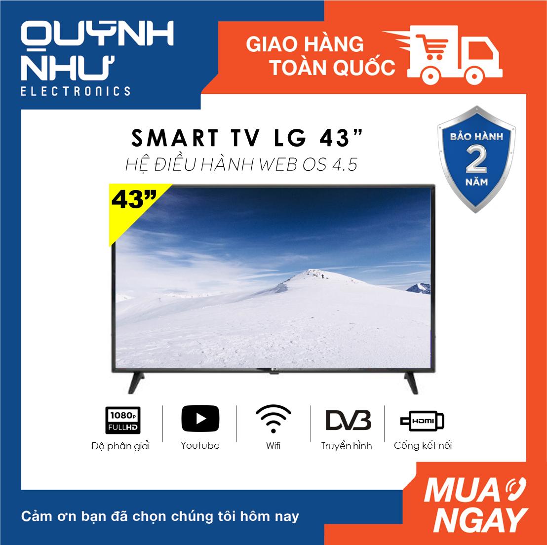 (Trả góp 0%) Smart Tivi LG 43 inch model 43LM5700PTC (Full HD, WebOS 4.5, Hỗ trợ Magic Remote, Youtube, Netflix, Bluetooth, DVB-T2, LG Content Store, màu đen) – Indonesia – Tivi giá rẻ – Bảo hành 2 năm