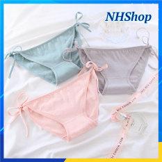 Quần lót cột dây màu PASTEL Ngọt ngào cotton mịn mát – Quần chip nữ dễ thương – NHShop