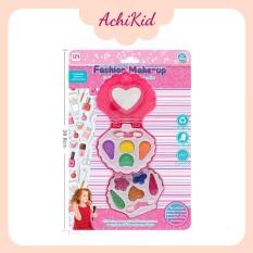 Đồ chơi cho bé gái bộ trang điểm màu hồng nhiều chi tiết, bộ trang điểm có gương soi, son giả an toàn à nhiều phụ kiện