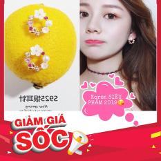 SIÊU PHẨM Bông tai hoa phối Ngọc phong cách Korea