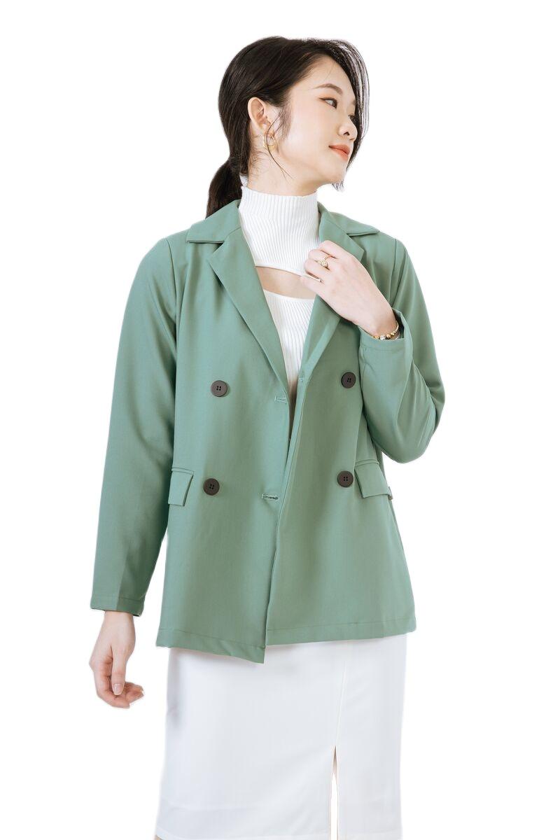 Áo blazer 4C túi có nắp CChat Clothes
