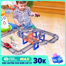 Ô TÔ TÀU LƯỢN – Bộ đồ chơi lắp ráp đường ray 56 chi tiết cực hấp dẫn cho bé- Niki Store