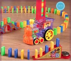 Đồ chơi xe tàu lửa domino di chuyển phát nhạc