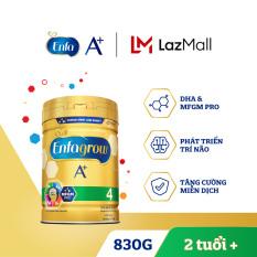 Sữa bột Enfagrow A+ 4 Với DHA Và MFGM Cho Trẻ Từ 2-6 Tuổi – 830g