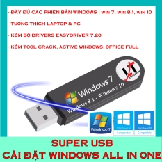 SUPER USB CÀI ĐẶT WIDOWS ALL IN ONE SIÊU HOT !
