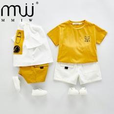 Bộ cộc tay cho bé trai và bé gái FUHA, bộ quần áo hình mèo Cat cho bé 10-20kg dễ thương