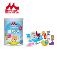 [Tặng máy tính tiền siêu thị cho bé] Sữa Morinaga Số 1 Hagukumi Nhật Bản 850g (Nguyên đai, tem chính hãng)