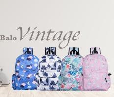 Balo Vintage Chống Nước Phong Cách Hàn Quốc HL Store BL Vintage