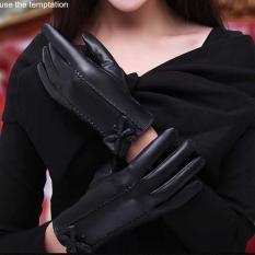 Găng tay nữ mùa đông da cừu cao cấp mẫu MỚi cảm ứng điện thoại lót lông cực ấm