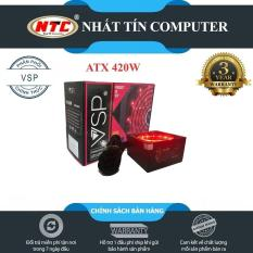 Nguồn công suất thực dành cho máy tính Vision VSP ATX 420W – Fan 12cm có đèn led (đen) – Hãng phân phối chính thức