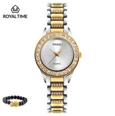 Đồng hồ thời trang nữ SKMEI 1262 chính hãng dây thép chống gỉ cao cấp SK1262.02S – Fullbox – Tặng gói bảo hành 12 tháng – tặng vòng tay cao cấp – gói hàng cẩn thận đúng mẫu