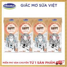 Thùng 48 hộp Trà sữa ít đường Vinamilk Happy 180ml