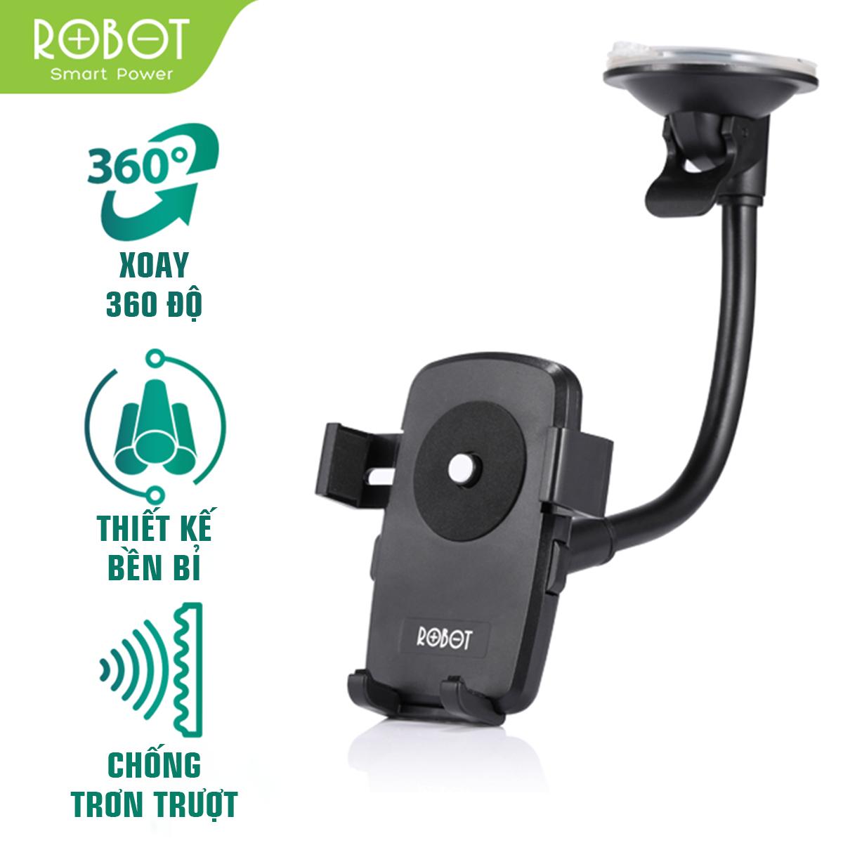 [ Bảo Hành 12 tháng ] Giá đỡ điện thoại trên Ô tô ROBOT CH06 thiết kế chắc chắn không bị trơn trượt trục xoay 360 độ an toàn khi sử dụng – Hàng Chính Hãng