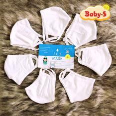 Khẩu trang vải Eco cho bé 0-10 tuổi chống bụi mịn xử lý bằng công nghệ Nhật Bản bảo vệ đường hô hấp và an toàn cho làn da nhạy cảm của bé Baby-S – SM007