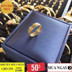 Nhẫn nữ, nhẫn kim tiền vàng 18k phong cách thời thượng Gadoshop VN28031909 – đeo đi tiệc đi chơi làm công sở cực sang chảnh và quý phái
