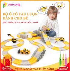 Đồ chơi trẻ em, Bộ đồ chơi lắp ghép đường ray Ô tô và Tàu hoả gồm nhiều chi tiết hỗ trợ phát triển trí tuệ cho bé