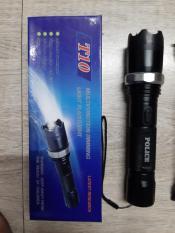 Đèn pin T10 sạc điện tự ngắt bảo_vệ + chích_điện (gậy 3,ba_khúc,tự _vệ)
