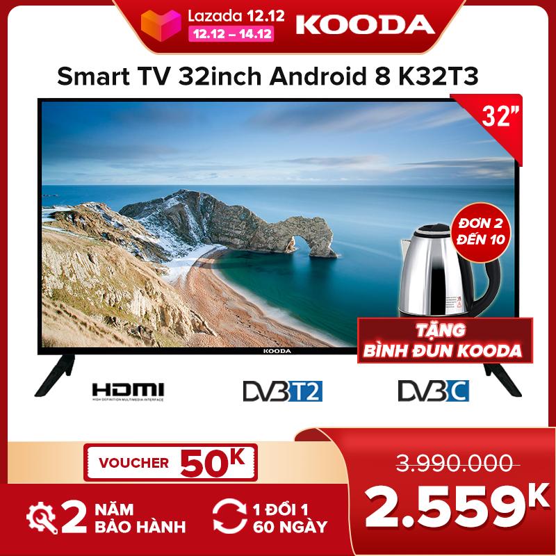 Tivi LED 32inch Kooda HD-K32T3-Tivi giá rẻ chất lượng-Bảo hành 2 năm (2020)