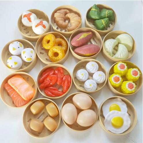 [Hot Sale 63%] Đồ Chơi Trong Nhà Cho Trẻ Em Đồ Chơi Nhà Bếp Trung Quốc Và Món Ăn Phương Tây 84 Bộ Chi Tiết Ăn Sáng,Hấp Bánh Bao Cho Bé Thỏa Sức Khám Phá Ẩm Thực Thích Hợp Cho Cả Bé Trai Và Bé Gái