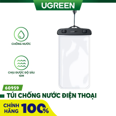 Túi đựng điện thoại chống nước tiêu chuẩn IPX 8 độ sâu 10m trong suốt cho màn hình từ 4 đến 6.5 inch UGREEN 60959 50919 – Hãng phân phối chính thức
