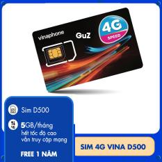 sim 4G Vinaphone trọn gói 1 năm không nạp tiền gói D500vina có 5Gb/tháng x 12 tháng.Miễn phí 12 tháng