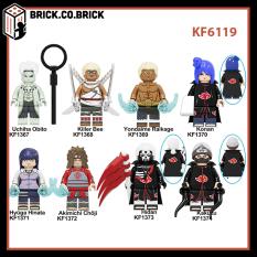 KF6119 – Đồ Chơi Lắp Ráp Minifig Và Non Lego Naruto – Mô Hình Xếp Hình Sáng Tạo Hinata Killer Bee Choji Hidan Obito
