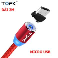 Cáp sạc hít nam châm từ tính 360 chân tròn Micro USB dây bọc dù siêu bền cho điện thoại Samsung, LG, Sony, OPPO, Xiaomi, Huawei, NOKIA Hệ điều hành Android